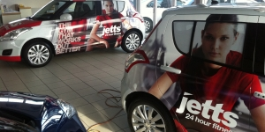 Jetts Gyms Small Car Wrap