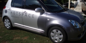 Hotspace Small Car Wrap