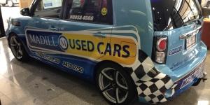 Madills Small Car Wrap