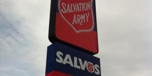 Salvation Army Lightbox Signage