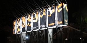 Carriage Works Illuminated Signage