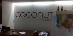 Coconut Noosa Reception Signage