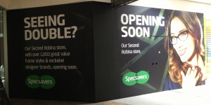 Specs Savers Coming Soon Store Signage