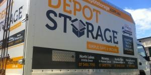 Maroochydore Depot Storage Truck Signage