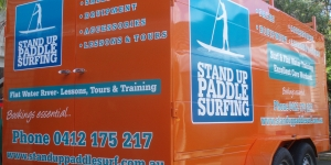 Stand Up Paddle Boarding Trailer Signage