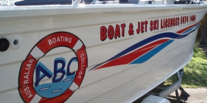 Boat Signage For A Boat Licencing School