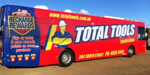 Total Tools Bus Wrap