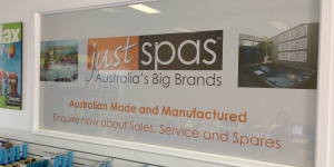Just Spas Shopfront Signage