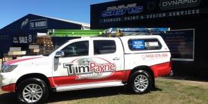 Tim Payne Car Signage