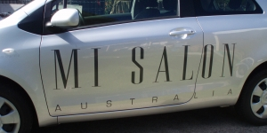 Mia Salon Car Signage