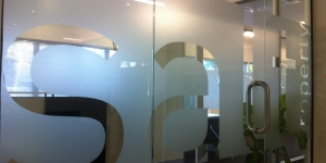 Stylish Frosted Window Graphics