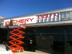 Shop Sign Installation